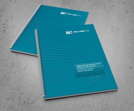 TruLine Civil, pair of tender bid documents