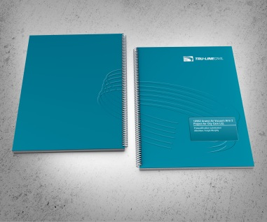 Front and back covers. TruLine Civil Tender bid document