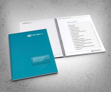 Cover and Table of Contents spread. TruLine Civil Tender bid document