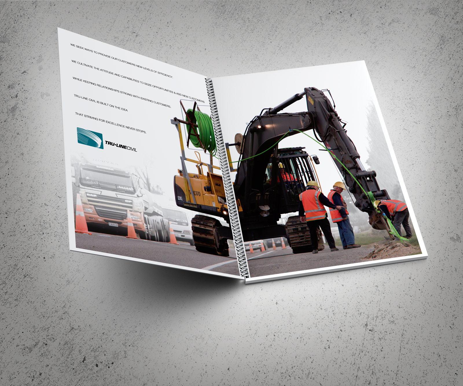 TruLine Civil tender bid document inside cover spread