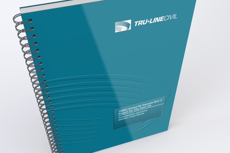 Front cover of TruLine Civil Tender bid document