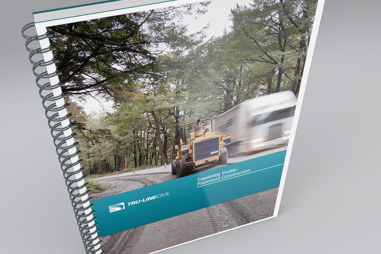 TruLine Capabilities Profile document, Pavement Construction front cover.