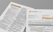 WindsorUrban custom Microsoft Word quote template document.