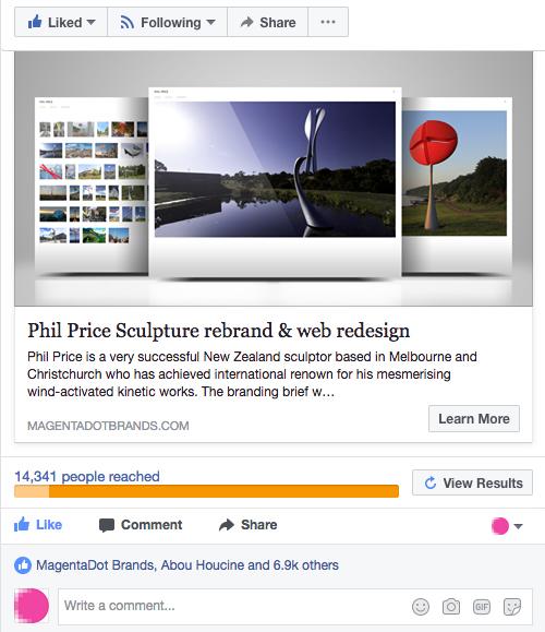 Facebook boost post statistics