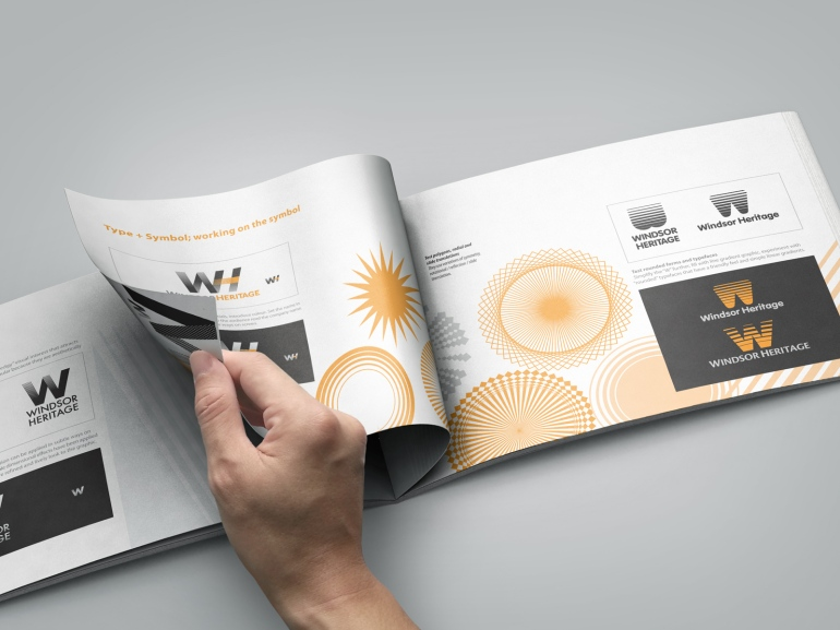 Inside spread WindsorUrban logo design presentation document