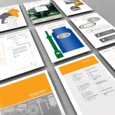 Windsor Urban brand use document nine page montage.