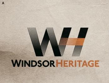 "Windsor Heritage Draft ""WH"" Monogram logo."