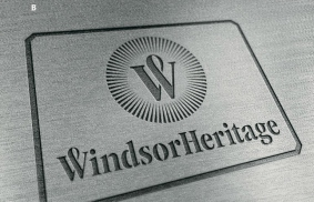 Windsor Heritage draft metal badge for product trimming.