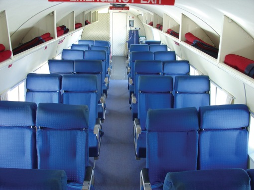 The Southern DC3 ZK-AMY, immaculate interior.