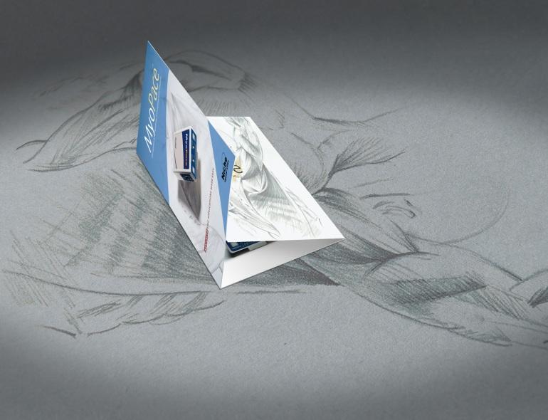 Myopace Electromyograph brochure. a5 bifold.