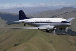 Southern DC3, ZK AMY air-to-air