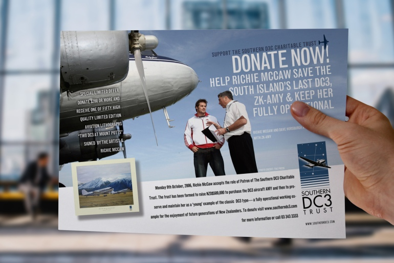Southern DC3 Charitable Trust donations drive flyer.