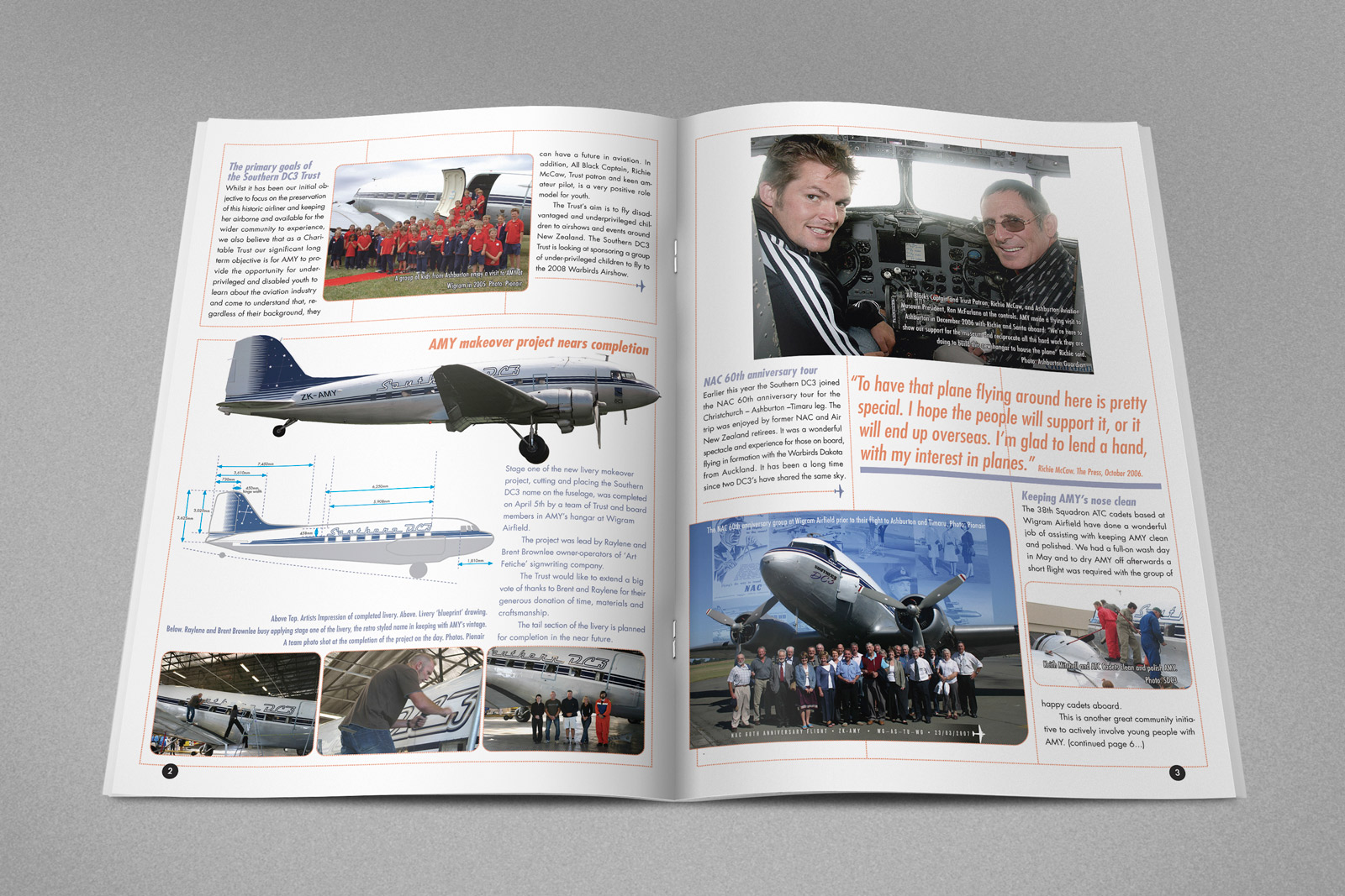 Southern DC3 Newsletter, Spring 2007, pages 2 & 3.