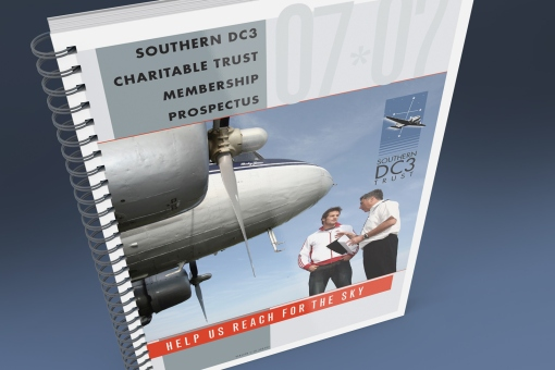 Southern DC3 Charitable Trust donations prospectus, Help us reach for the sky, Front cover.