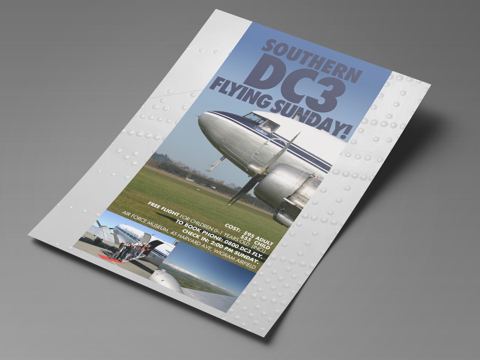 Southern DC3 flying sunday A5 flyer.