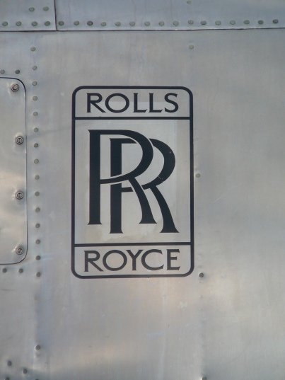 Rolls Royce logo on the polished alloy nacelle of Pionair Australia Convair VH-PDV.