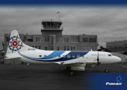 Pionair Australia Convair VH-PDV (ZK-KSA) the unveiling of its brand new fluid livery