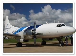 Publicity shot composite of Pionair Australia Convair VH-PDV