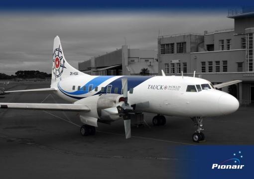 Pionair Australia Convair VH-PDV (ZK-KSA) unveiling its brand new fluid livery