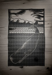 Some screen printed art began as woodcuts.