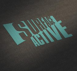 Surface Active garment label embroidered