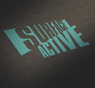 Surface Active garment label embroidered.