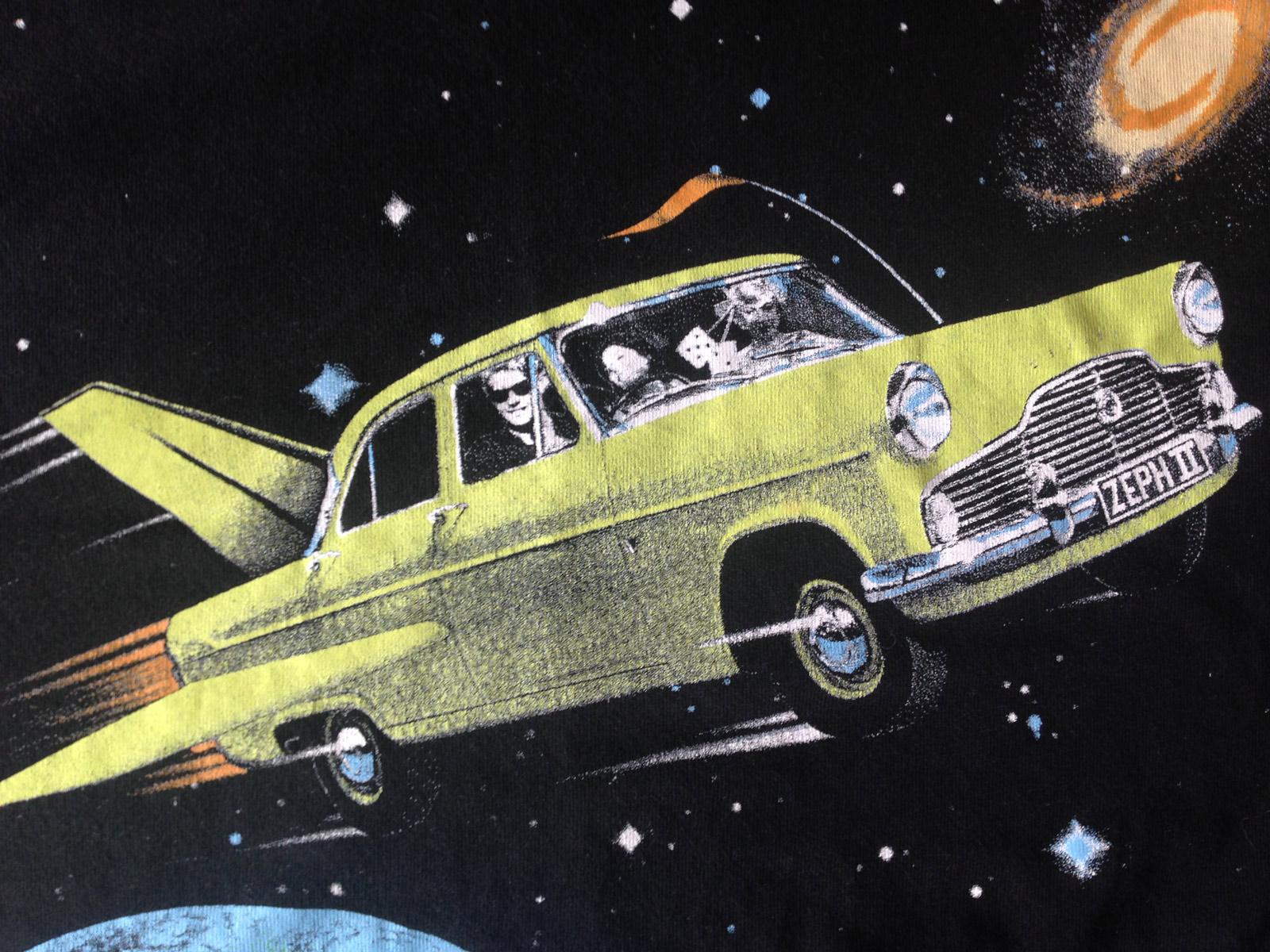 'Kiwi Space Shuttle' print detail.