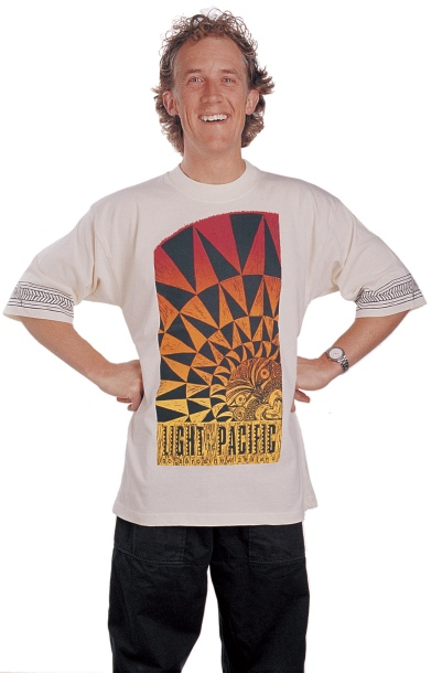 'Light of the Pacific - Nuclear-free New Zealand' two colour T-Shirt.