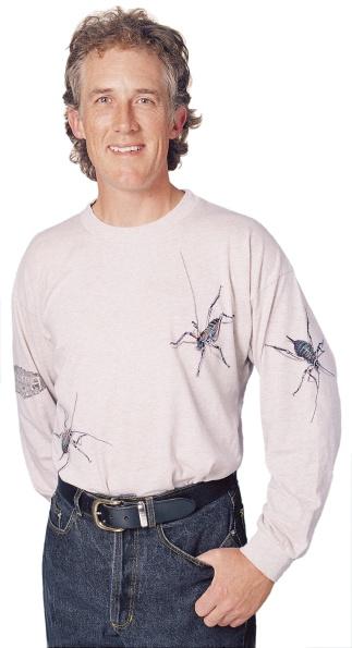 Weta long sleeve T-shirt on oatmeal marle fabric.
