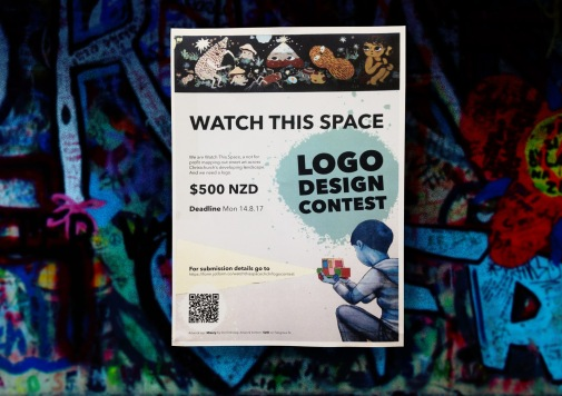 """Entry form for """"Watch this space"""" Logo design contest"""