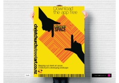 Watch This Space logo presentation app download launch and publicity poster