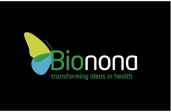 Draft Bionona logo on black.