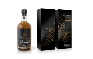 Waitui Single Malt Whiskey label and packaging.
