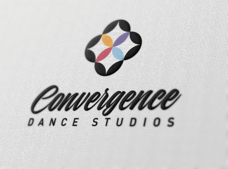 convergence logo embroidered on fabric