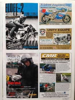The goal of this highly readable short copy quarter page ad placed in Classic Racer magazine was to telegraph its message by standing out from the crowd in other words, it aimed to achieve page dominance.