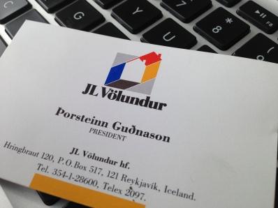 Icelandic firm JL Völundur logo and business card