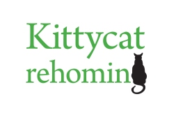 Making a wordmark by combining a picture to replace a letter in the Kittycat rehoming name, creates a stylish compact logo. The silhouette is reminiscent of a cat basking in the warmth of a fire, it speaks volumes of hearth and home.