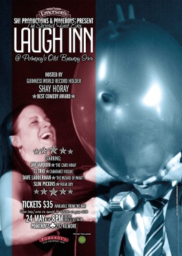 Laugh Inn promotional posters from photos I shot at the first couple of events.