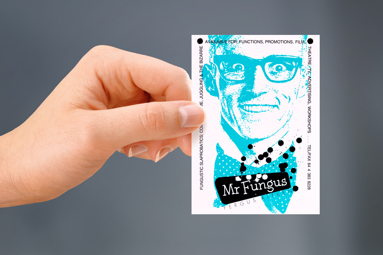 Verso of Mr Fungus business card