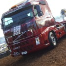 The super graphic MTC Volvo at the Mystery Creek field days exhibition.