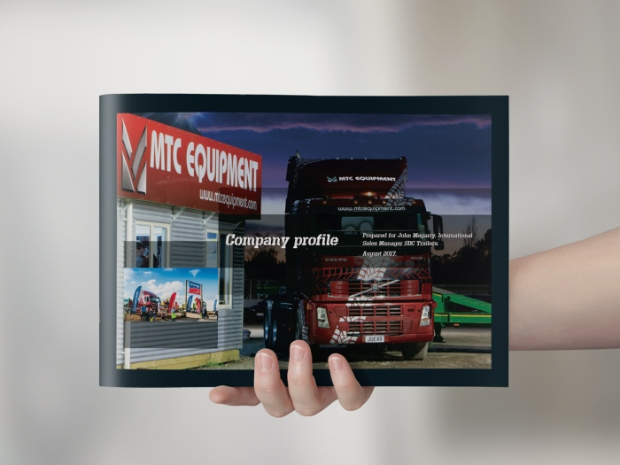 MTC Equipment company profile document cover