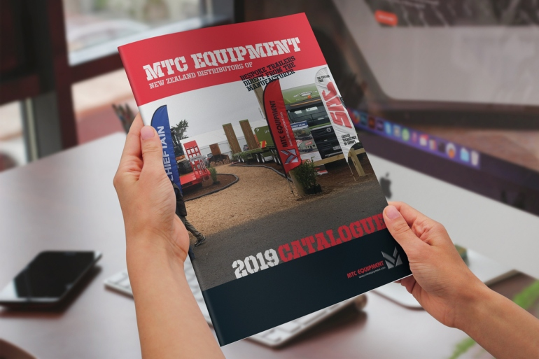Front cover of the 2019 MTC Equipment Catalogue hand-held