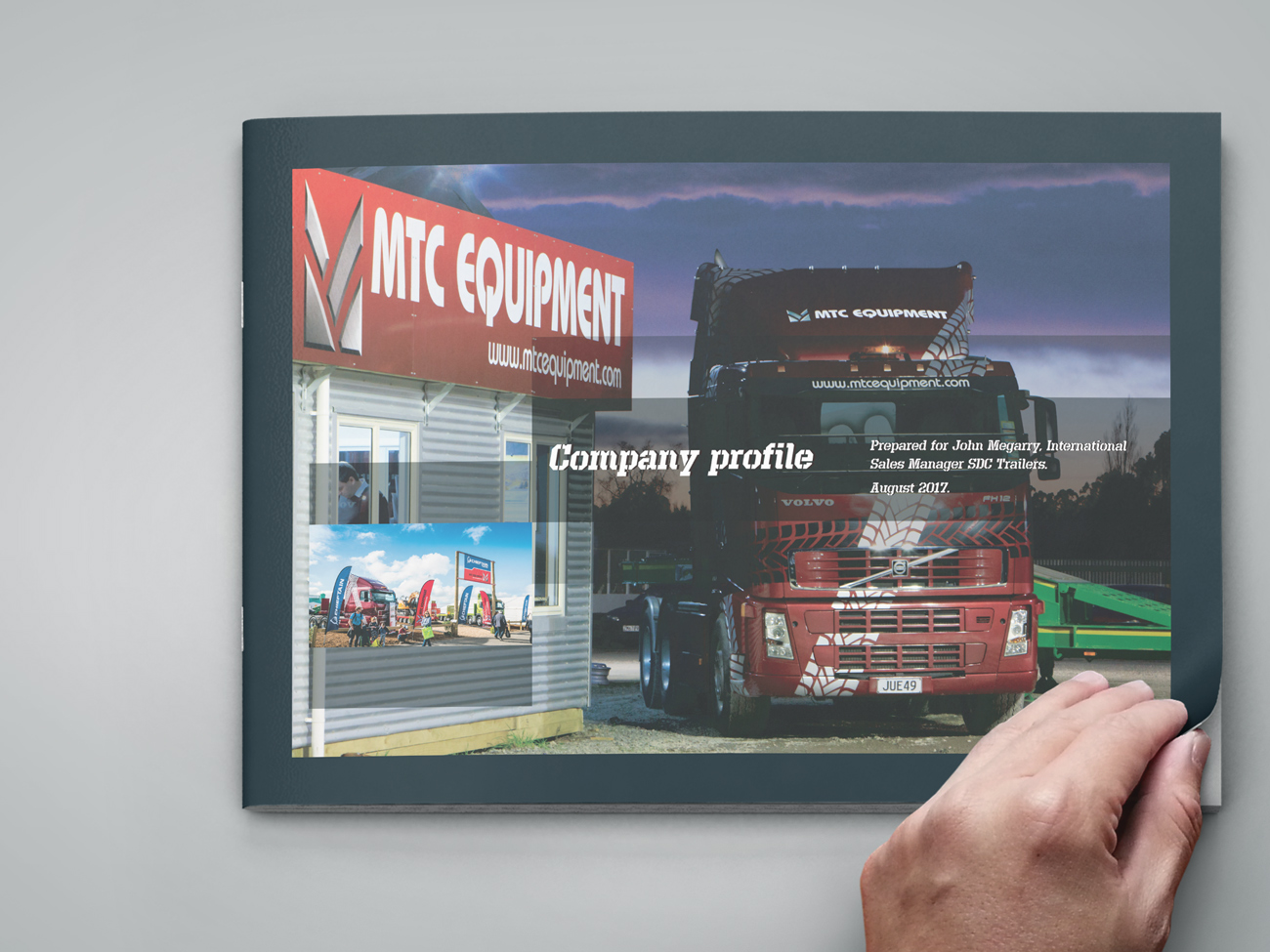 MTC Equipment company profile document front cover.