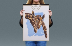Visual presentation of Rothschild's Giraffe T-shirt front