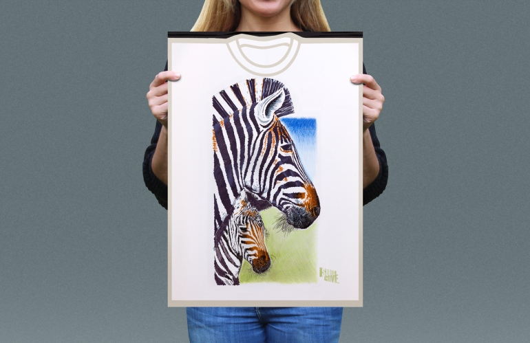 Visual presentation of Chapman's Zebra T-shirt front