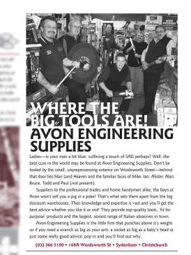 "The Pomeroy's Press. Pom's ""Locals like…"" profile article. Advertisement for Avon Engineering Supplies."