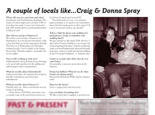 "The Pomeroy's Press. Pom's ""Locals like…"" profile article. Craig and Donna Spray."