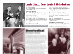 "The Pomeroy's Press. Pom's ""Locals like…"" profile article. Dean Lewis and Mick Graham."
