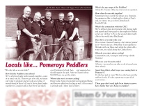 "The Pomeroy's Press. Pom's ""Locals like…"" profile article. Pomeroy's Peddlers."