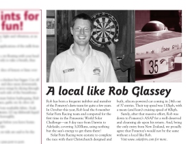 "The Pomeroy's Press. Pom's ""Locals like…"" profile article. Rob Glassey."